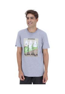 Camiseta Rusty Silk Surfwall Sb - Masculina - Cinza Claro