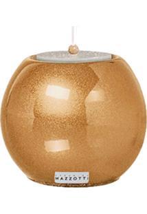 Castiçal M De Cerâmica 12Cm Dourado Mazzotti