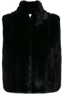 Rossignol Faux Fur Vest - Preto