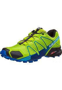 Tênis Speedcross 4 Masculino Verde/Azul 44 - Salomon