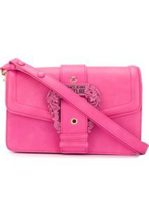 Versace Jeans Couture Bolsa Tiracolo Com Fivela Barroca - Rosa