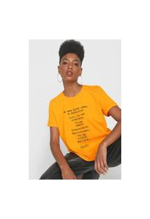 Camiseta Colcci Revolution Laranja