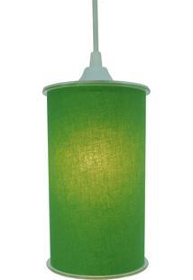 Luminária Pendente Cilíndrica Crie Casa Verde