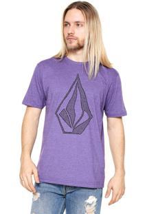 Camiseta Volcom Creep Stone Roxa