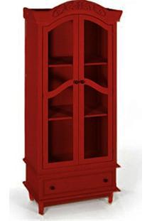 Cristaleira Colonial 2 Portas Atz 79 - Vermelho