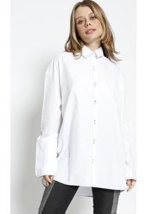 Camisa Com Pespontos - Branca - Colccicolcci