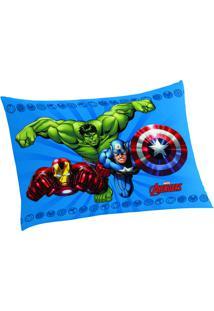 Fronha Avengers®- Azul & Verde- 50X70Cm- Lepperlepper