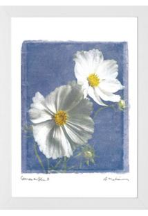Quadro Floral 28X38 Cm Branco Kapos