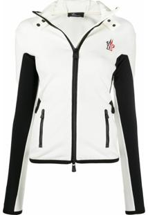 Moncler Grenoble Jaqueta Slim Color Block - Branco