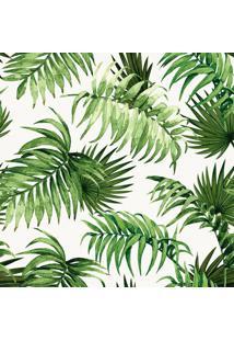 Papel De Parede Folhas Off White E Verde (1000X52)