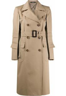 Maison Margiela Trench Coat Com Cinto - Neutro