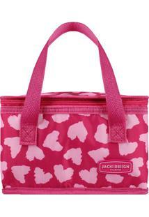 Bolsa Térmica Animal- Rosa & Rosa Claro- 22X14X14Cm