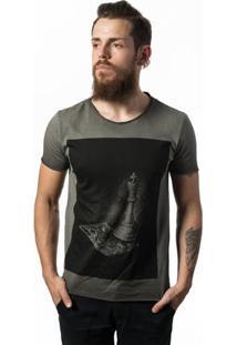 Camiseta Estonada Skull Lab - Masculino-Cinza
