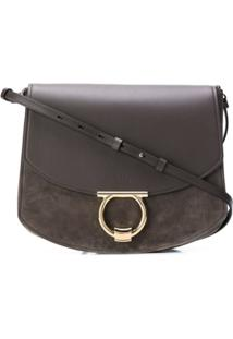 Salvatore Ferragamo Large Gancini Cross Body Bag - Cinza