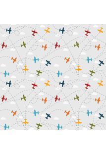 Papel De Parede Quartinhos Infantil Aviões 2,70X0,57M