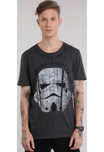 Camiseta Stormtropper Cinza Mescla Escuro