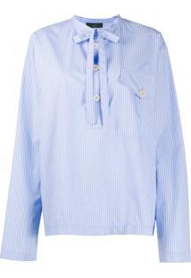 Jejia Nak Polo Striped Shirt - Azul