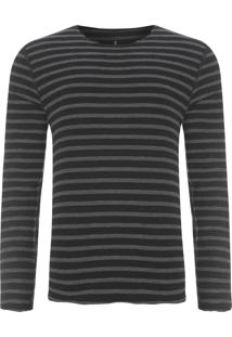 Camiseta Masculina Dupla Face - Preto