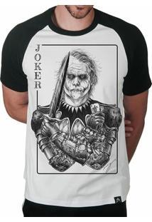 Camiseta Raglan Artseries Coringa Joker Clássico Masculina - Masculino
