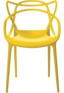 Cadeira Decorativa Sala E Cozinha Feliti (Pp) Amarela - Gran Belo - Amarelo - Dafiti