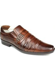 Sapato Social Masculino Palmilha Gel Com Amortecedor Ranster - Masculino-Marrom Escuro