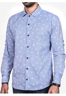Camisa Palms Azul 200054