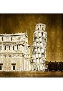 Quadro Impressão Digital Torre De Pisa 45X45