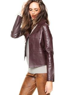 Jaqueta Ellus Double Leather Marrom