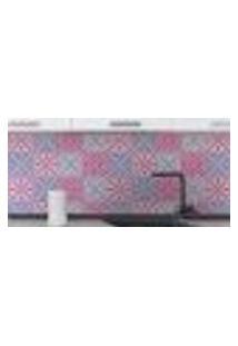 Papel De Parede Autocolante Rolo 0,58 X 3M - Azulejo Flores 289085516