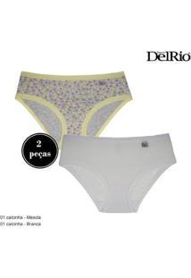 Kit 2 Calcinhas Delrio Miss Feminina - Feminino-Mescla