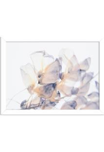 Quadro Decorativo Primavera Flores Brancas Branco - Médio
