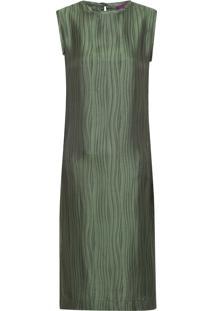 Vestido Mídi Reto - Verde