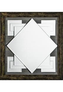 Espelho Vs91 Fabio Fuzimoto Fundo Madeira Sobre Vidro Cor Imbuia