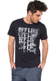 Camiseta Aramis Offline Azul-Marinho