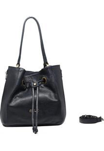 Bolsa De Couro Recuo Fashion Bag Tiracolo Azul Marinho