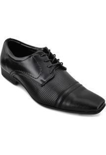 Sapato Social Couro Mariner Masculino - Masculino-Preto