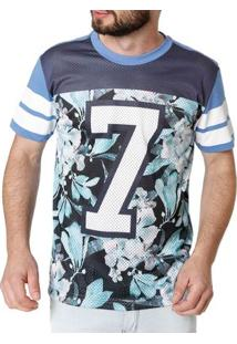 Camiseta Manga Curta Masculino Federal Art Azul