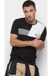Camiseta Acostamento Bicolor Masculina - Masculino-Preto
