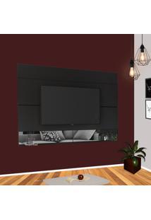 Painel Para Tv 65 Pol Estilare Est204 Preto Com Espelho