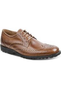 Sapato Casual Couro Oxford Sandro & Co Masculino - Masculino-Marrom Claro