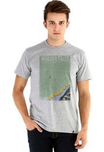 Camiseta Ouroboros Manga Curta Niagara Falls - Masculino-Cinza