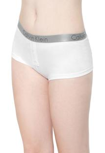 Calcinha Calvin Klein Underwear Boxer Radiant Branca