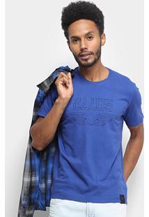 Camiseta Ellus Asa Classic Masculina - Masculino-Azul Royal