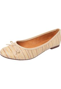 Sapatilha Listrada Dafiti Shoes Bege