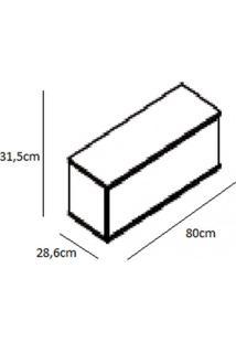 Conjunto Para Lavanderia 3 Peças Com Armário Aéreo E Balcão Verace Siena Móveis Taupe/Off White