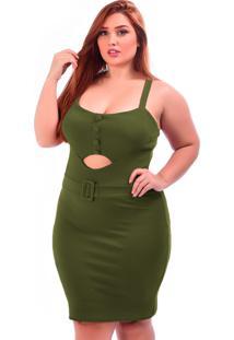 Vestido Sig Curto Plus Size Vinho Preto Verde Militar