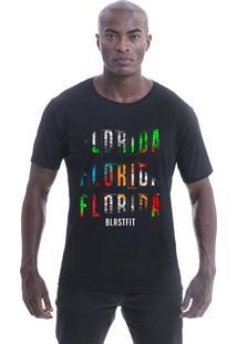 Camiseta Longline Blast Fit Preto Florida