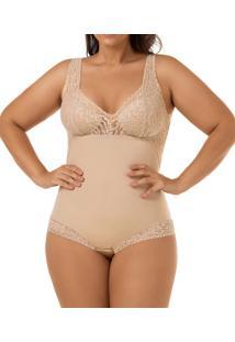 Body Modelador Com Renda Mondress (965Re) Plus Size