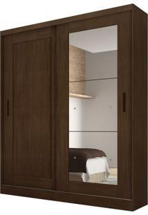 Guarda-Roupa Solteiro Com Espelho Naia Castor 2 Pt 3 Gv