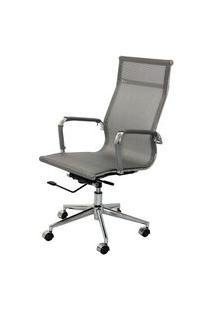 Cadeira Eames Telinha Alta Cinza Cromada - 24735 Cinza